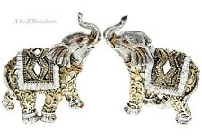 Diamond Set Of 2 Elephants Animals Figures Ornaments Home Decoration Gift 50180