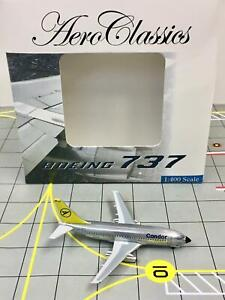 """AeroClassics 1:400 Condor Airlines Boeing 737-200 D-ABHT """"Polished Livery"""""""