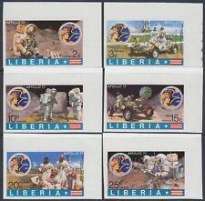 Liberia 1973 ** mi.862/67 B spatiale space espace Apollo 17
