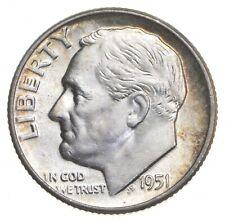 Unc BU MS 1951 - US Roosevelt 90% Silver Dime Coin Collection Set Break *692