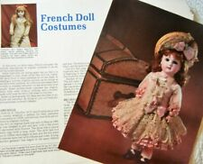 19p Costuming History Article + Pics -  Antique French Fashion Doll Costumes