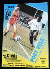 Port Vale v Newcastle United   7-4-1990