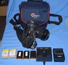 Canon Eos Rebel 60Di 18.0 Mp Digital Slr CameraBlack 18-135mm + Grip