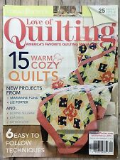 Fons & Porter's Love of Quilting Magazine Jan/Feb 2014 Warm & Cozy Quilts