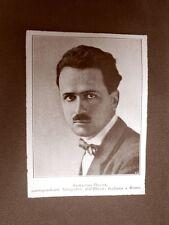 Stampa del 1923 Armando Bruni Collaboratore dell'Illustrazione Italiana
