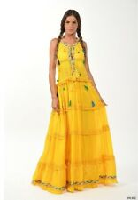 Designer Inspired Excellent Quality Yellow Maxi Dress Size Medium Brand New