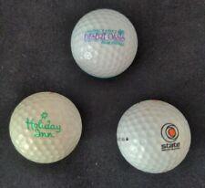 Vintage Lot of 3 Golf Balls Logo Desert Oasis Holiday Inn State Water Heater