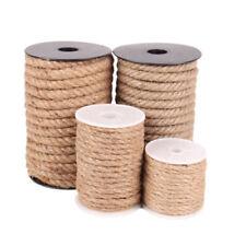2mm Jute Cord Burlap Rope Twist Hemp Natural Linen Twine Craft String 10-100 yd