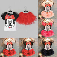 Kids Baby Girls 2Pcs Outfits Clothes T Shirts Tops+Tutu Dress Skirt Clothes Set