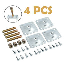 Set of 4 Leg Fixing Mounting Plates With 4 Wood to Metal Dowel Screws Included