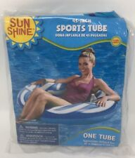 Sun Shine One 45 inch Sports Inflatable Tube, Colors Blue and White