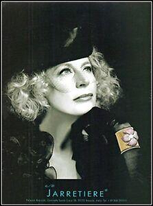 2006 Jarretiere Italian fashion jewelry woman in black veil photo print Ad ads12