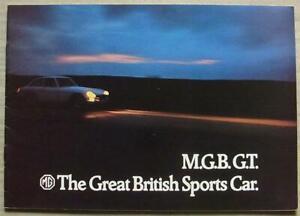 MG MGB GT Sport Car Sales Brochure c1972 #2866/B