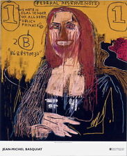 Mona Lisa by Jean-Michel Basquiat Art Print 2002 Exhibition Poster 47x39