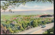 OLYPHANT BLAKELY PA Aerial View Coalfield Vtg Postcard