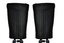 BLACK STITCH FITS VOLVO S40 00-08 2X SEAT BELT STALK LEATHER COVERS