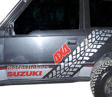 Adesivi fuoristrada 4x4 - Kit adesivi Racing per Suzuki Vitara - fiancata dx+sx