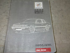 1989 Buick Skylark Service Shop Repair Manual FACTORY BOOK DEALERSHIP HOW TO FIX