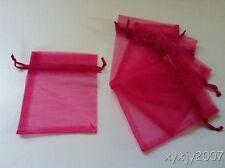 "30 Fuchsia 4 x 4.5""Organza Gift Bag Pouch Wedding Favor"
