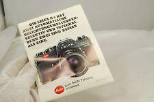 Leica R3 camera Brochure short Instruction guide DE German 7403027