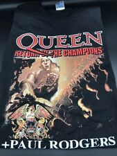 Queen Return of Champions Tour Large L Shirt North America w/Paul Rodgers