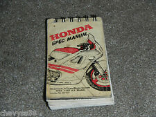 1983-1987 83 87 Motorcycle Atv Scooter Service Specifications Spec Book Manual