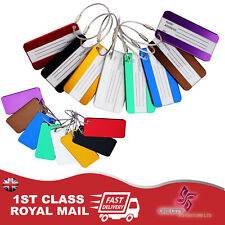 Travel Luggage Tag Labels For Baggage And Handbags Secure Suitcase Aluminum Tags