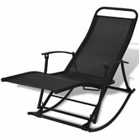 vidaXL Patio Reclining Sun Lounger Folding Garden Rocking Chair Outdoor Porch