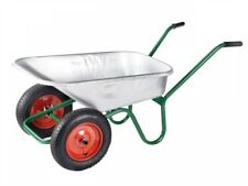 Walsall Windsor Twin Galvanised 90 Litre Wheelbarrow (COLLECTION ONLY)