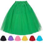 Vintage Tulle Net Tutu Skirt Women Underskirt Wedding Party Cocktail Petticoat