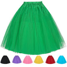 Rock'n roll femmes Swing plis Jupon Petticoat Tulle Tutu RETRO jupes 8 couleurs
