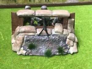 ASIATAM Diorama Wehrmacht MG- Stellung mit 3 Figuren fertig bemalt maßstab 1:16