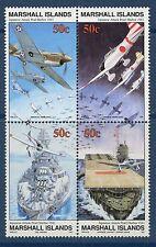 Marshall Islands 1991 World War 2 WW II Scott 288-91 Pearl Harbor Bombing W26 NH