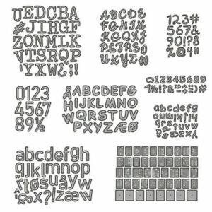 Number Letter Symbol Metal Cutting Die Scrapbooking Embossing Paper Dies Crafts