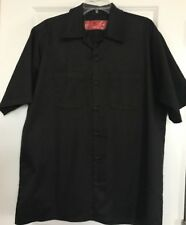 Orange County Choppers Mens XL Black SS Button Front Work Shirt Graphic On Back