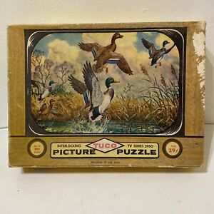 Vintage 1957 Tuco Picture Puzzle Up and Away Mallard Ducks  TV Series 2950