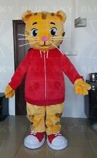 Mascots Costume Fancy Dress Adult Daniel The Tiger Red Jacket Cartoon Character