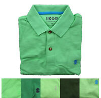 IZOD Men's Short Sleeve Regular Fit Pique Golf Polo Uniform Shirt Top Green