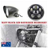 "5.75"" Matt Black LED daymaker bullet headlight Harley breakout rocker FXSB FXCW"