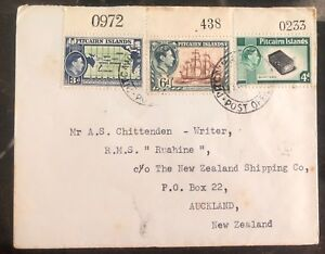 1953 Pitcairn Island Cover To The Shipping Co In Auckland New Zealand