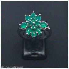 Aventurine Oval Green , 925 Sterling Silver Ring.  Size 9.