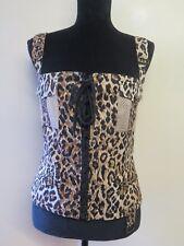 Genuine Dolce & Gabbana D&G Leopard Print Sleeveless Camisole Top UK 12 EU 40
