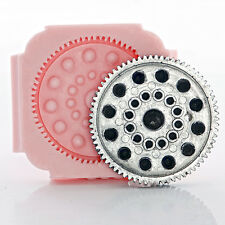Huge Steampunk Gear Silicone Mold Soap Resin Wax Clay Food Safe Candy Mold (853
