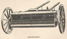 A7807 Spandiconcime - Xilografia - Stampa Antica del 1930 - Engraving