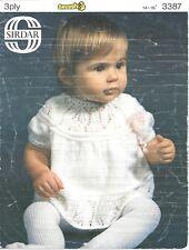 Vintage knitting pattern baby/reborn dress in 3 ply