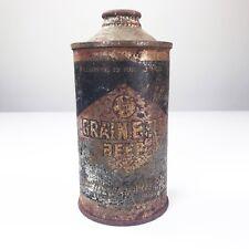 Vintage Steel Grain Belt Cone Top Home Bar Decor Empty Beer Can Minneapolis MN