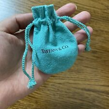 """Authentic Tiffany & Co. Suede Drawstring Jewelry Pouch Travel Bag 3.5"""" x 2.5"""""""
