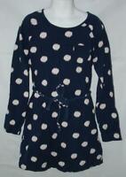 Girls Small 7 / 8 Church School or Play Navy Blue Long Sleeve Dress ARIZONA
