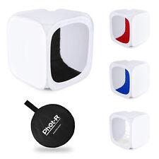 Phot-R Photo Studio Light Tent Soft Box Cube 30x30x30cm + 4 Coloured Backdrops