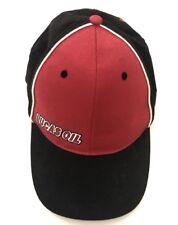 Lucas Oil Red Black Cap Hat SnapBack Graphics Under Bill NWOT